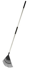 Garden rake with aluminum handle