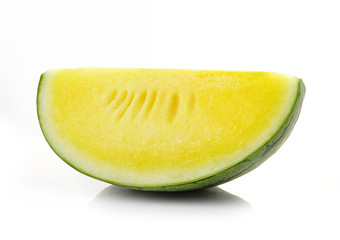 yellow watermelon isolated on white background