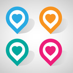 heart check in icon great for any use. Vector EPS10.