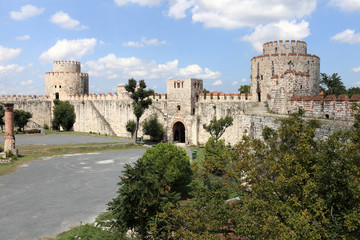 View of inner courtyard of Yedikule Fortress
