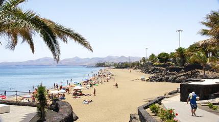 Playa del Puerto del Carmen, Lanzarote, Islas Canarias