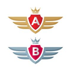 Vintage badge - vector logo. Heraldic badge.