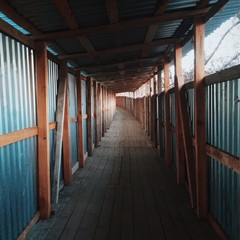 passage under the buildings