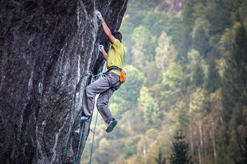 free climbing in val Masino Wall mural