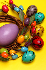 Close-up Easter eggs