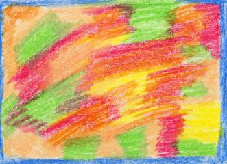 color wax pencils background