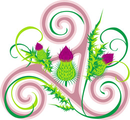 Thistle and Celtic triad