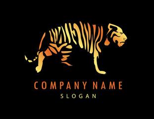 Logo tiger black background