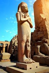 Statue of Ramses II and his wife Nefertari