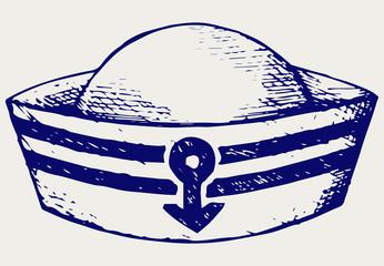 Sailor cap. Doodle style