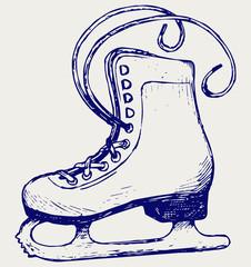 White skates. Doodle style