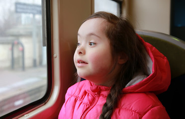 Portrait of girl in the train