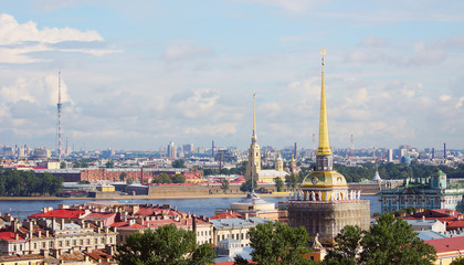 View to the cityscape of Saint-Petersburg, Russia