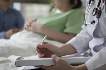 Woman doctor have a prenatal examination