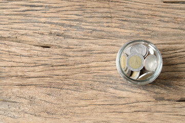 coins in bottle