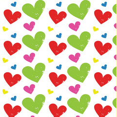 heart grunge pattern vector