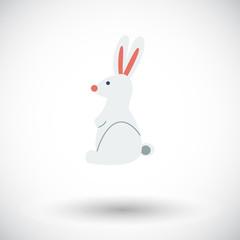Rabbit single icon.