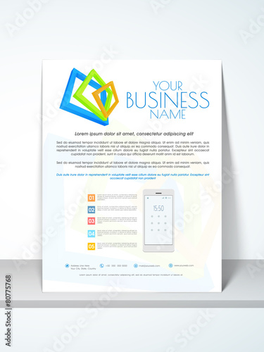 professional flyer template or brochure for your business stock