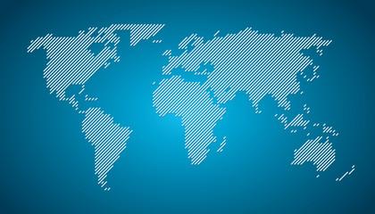 World map diagonal lines EPS 10