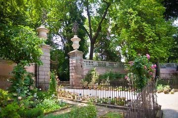 Entrance of Botanical garden in Padova