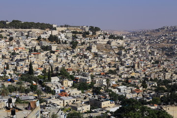 View of the Arab part of Jerusalem, Palestine, Israel