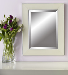 Wall Mirror in set with Flowers