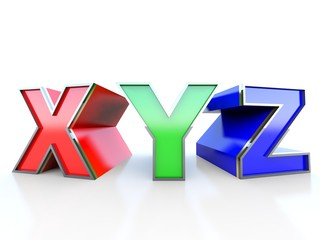 XYZ on white background