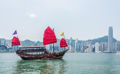 Hong Kong - JULY 27, 2014: Hong Kong Victoria Harbour on July 27