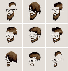 hairstyles with a beard and mustache wearing glasses
