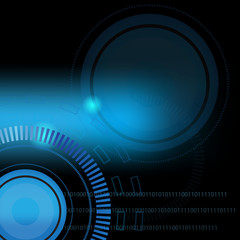 Abstract vector background blue technology