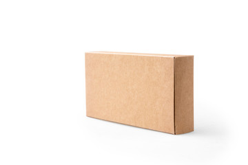 brown package box on isolated background