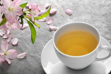 Herbal tea with plum flower