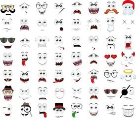 Набор мультфильма сталкивается с различными эмоциями
