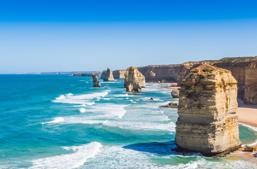 Foto op Canvas Australië The twelve apostles on the great ocean road in Victoria Australi