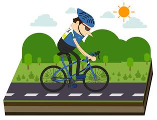 cyclists and bike race
