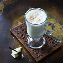 Hot White Chocolate in Glass