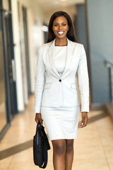 african american business executive with briefcase