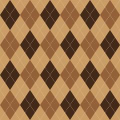 Argyle pattern brown rhombus seamless texture