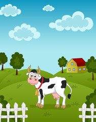 Poster Dogs Funny cow
