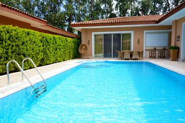 The swimming pool at luxury villa, Antalya, Turkey