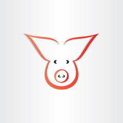 pig symbol pork meat icon design