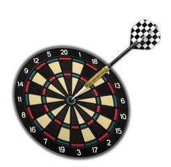 Zielscheibe mit einem Dartpfeil