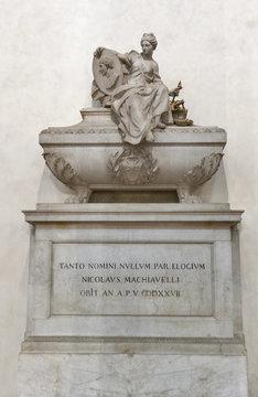 Niccolo Machiavelli tomb in Basilica di Santa Croce, Florence
