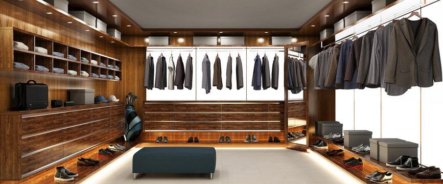 Big modern wardrobe for men