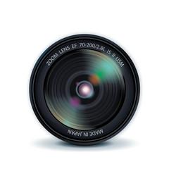 Highly detalized camera lens, vector illustration