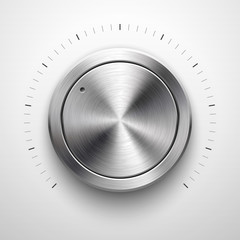 Wall Mural - Abstract Technology Volume Knob with Metal Texture