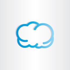 blue cloud icon design