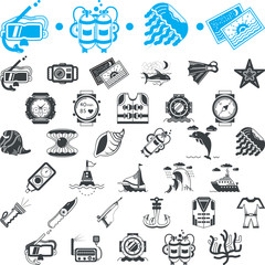 Nautical icons collection