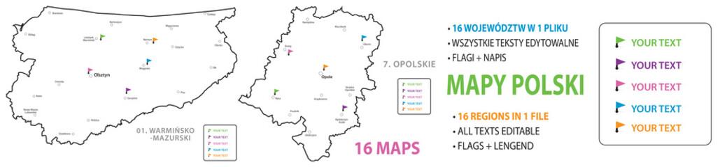 16 REGIONS OF POLAND