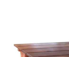 Old wooddesk with white background